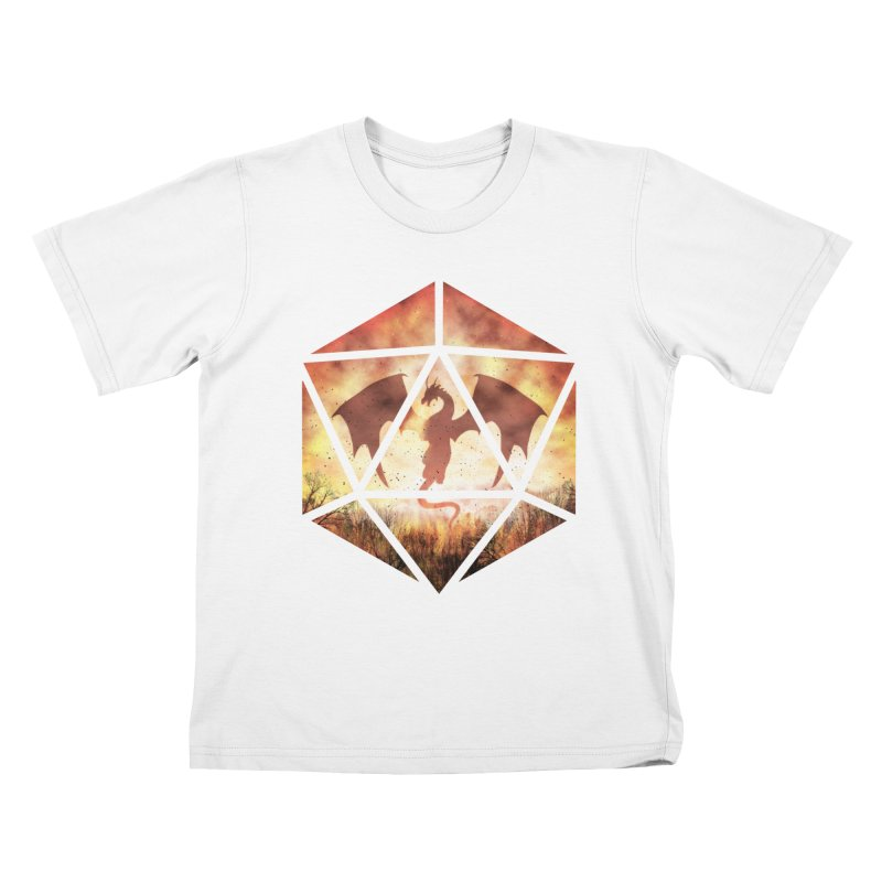 Fire Dragon D20 Kids T-Shirt by maratusfunk's Shop