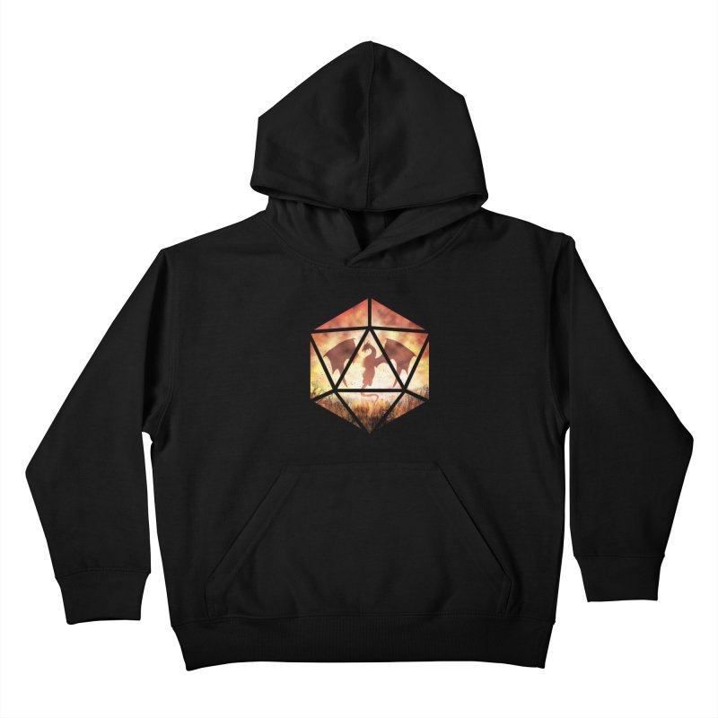 Fire Dragon D20 Kids Pullover Hoody by maratusfunk's Shop