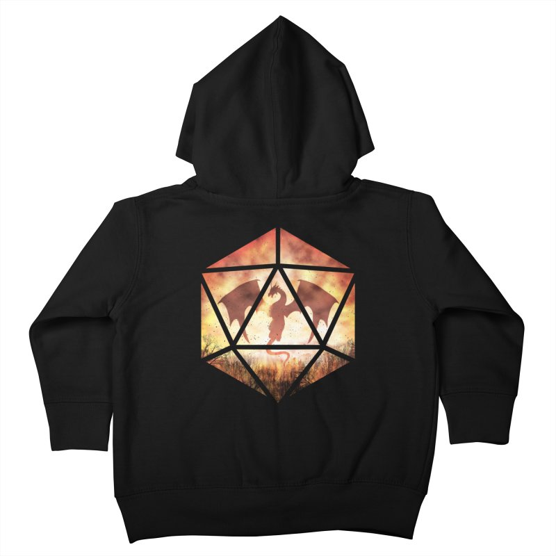 Fire Dragon D20 Kids Toddler Zip-Up Hoody by maratusfunk's Shop