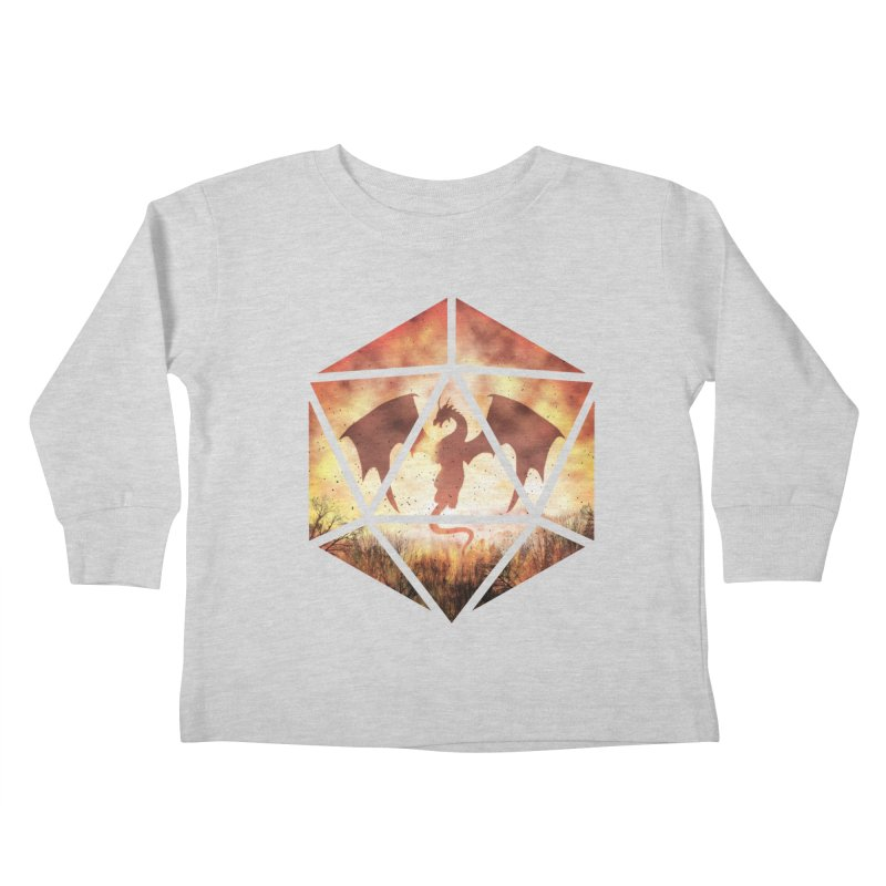 Fire Dragon D20 Kids Toddler Longsleeve T-Shirt by maratusfunk's Shop