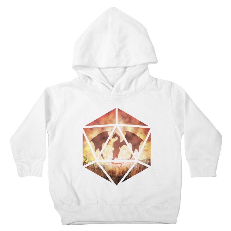 Fire Dragon D20 Kids Toddler Pullover Hoody by maratusfunk's Shop