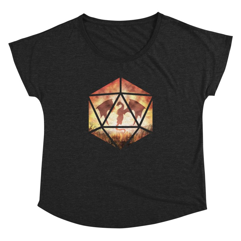 Fire Dragon D20 Women's Dolman Scoop Neck by maratusfunk's Shop