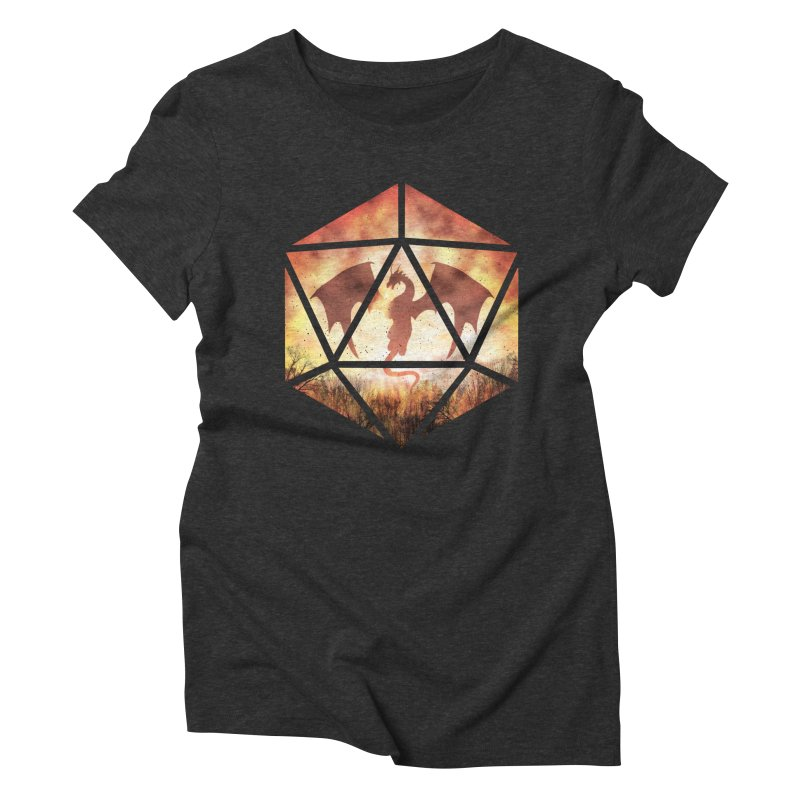 Fire Dragon D20 Women's Triblend T-Shirt by maratusfunk's Shop