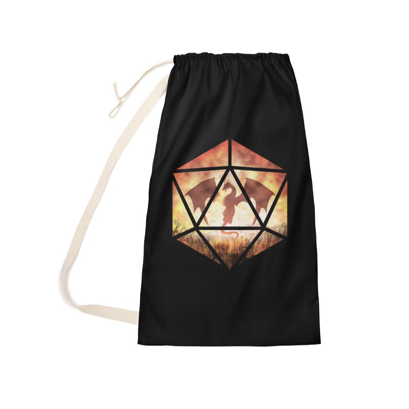 Fire Dragon D20 Accessories Laundry Bag Bag by maratusfunk's Shop
