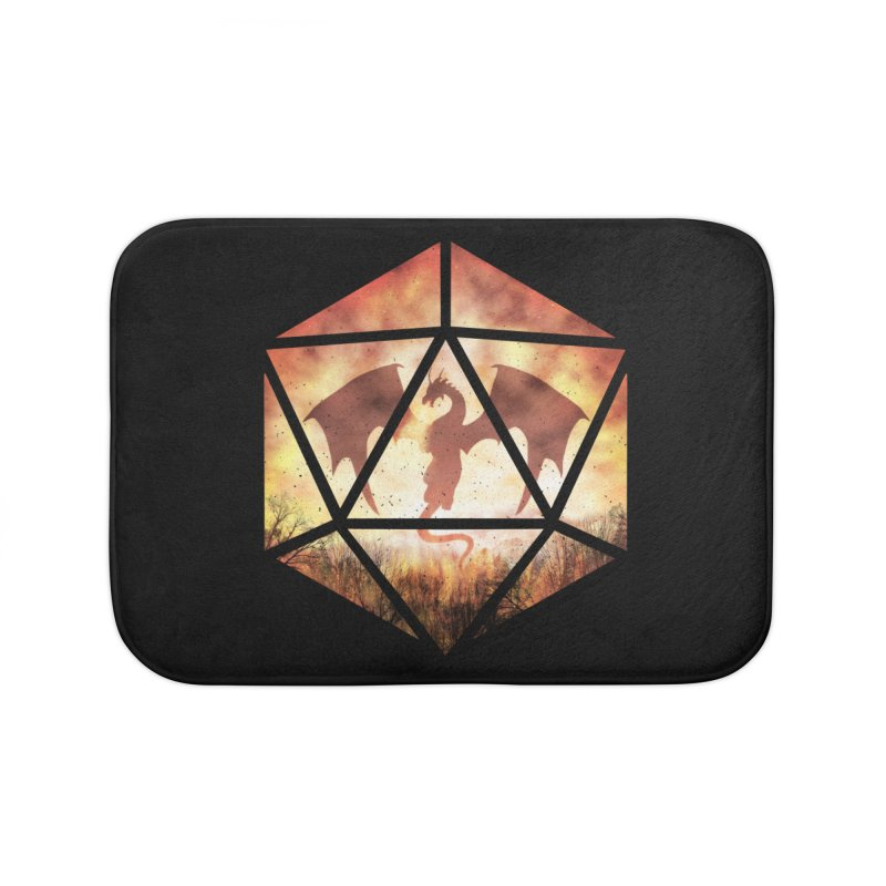 Fire Dragon D20 Home Bath Mat by maratusfunk's Shop