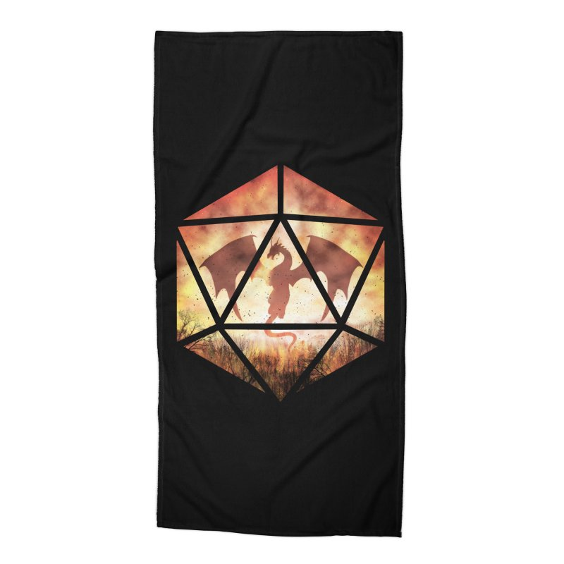 Fire Dragon D20 Accessories Beach Towel by maratusfunk's Shop