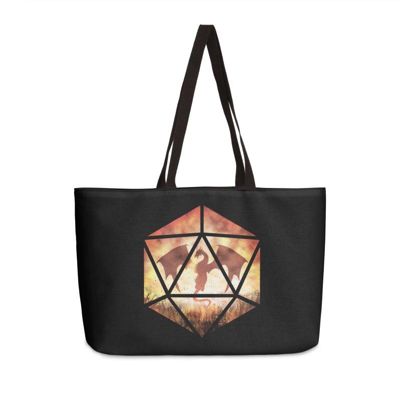 Fire Dragon D20 Accessories Weekender Bag Bag by maratusfunk's Shop