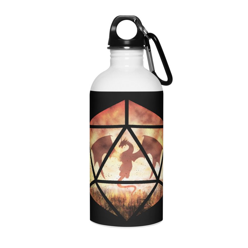 Fire Dragon D20 Accessories Water Bottle by maratusfunk's Shop
