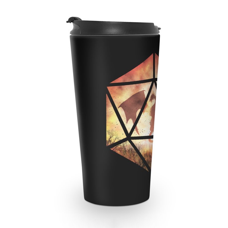Fire Dragon D20 Accessories Travel Mug by maratusfunk's Shop