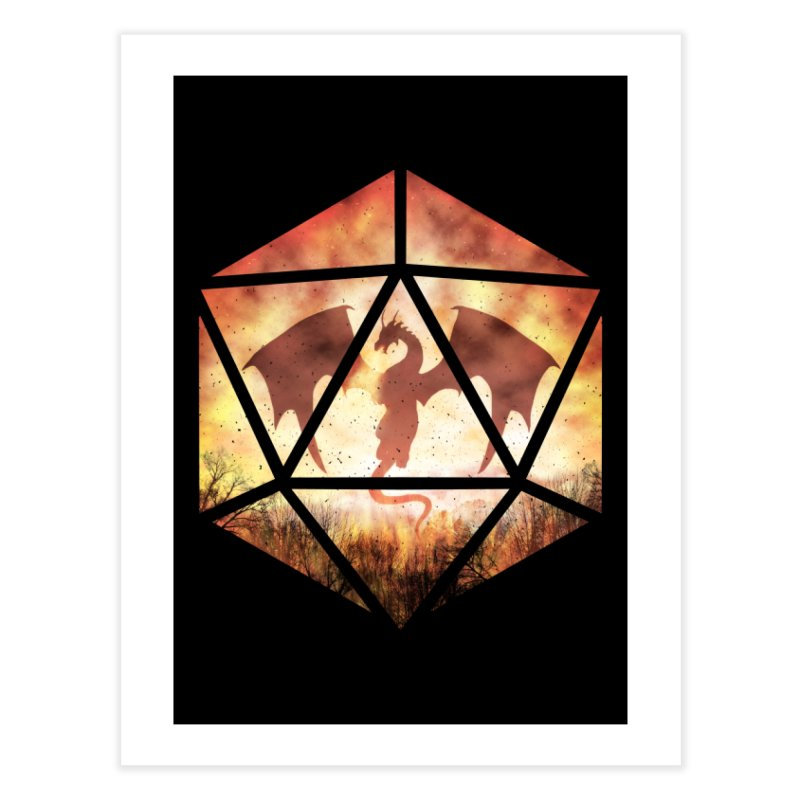 Fire Dragon D20 Home Fine Art Print by maratusfunk's Shop