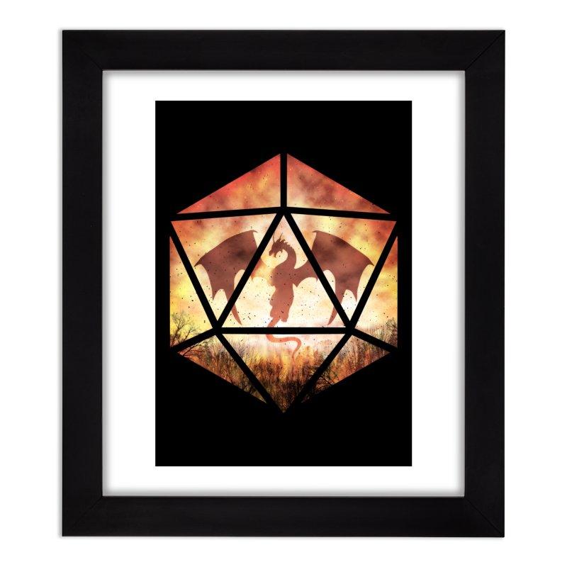 Fire Dragon D20 Home Framed Fine Art Print by maratusfunk's Shop