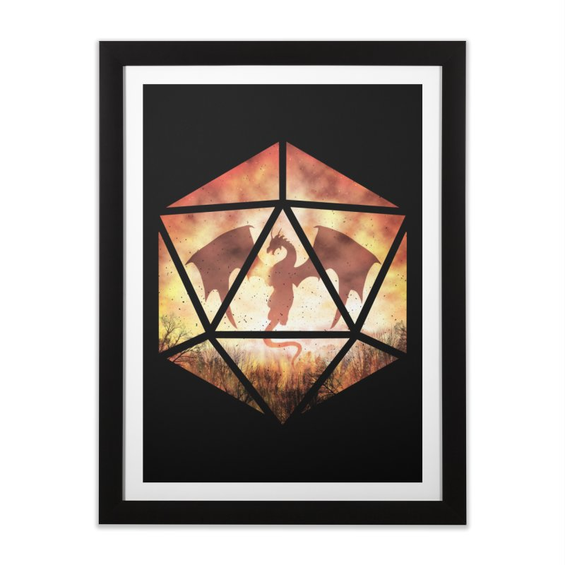 Fire Dragon D20 Home Framed Fine Art Print by maratusfunk's Shop