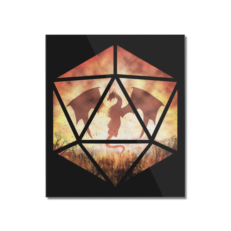 Fire Dragon D20 Home Mounted Acrylic Print by maratusfunk's Shop