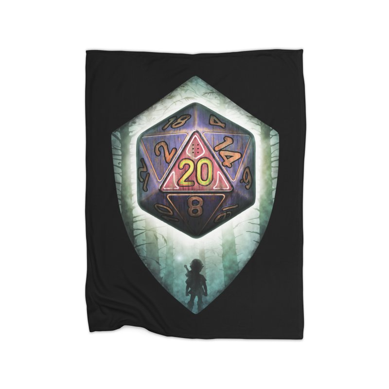 Majora's D20 Home Fleece Blanket Blanket by maratusfunk's Shop