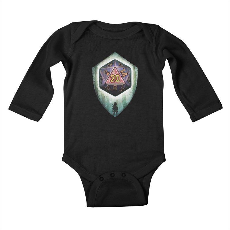 Majora's D20 Kids Baby Longsleeve Bodysuit by maratusfunk's Shop