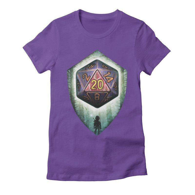 Majora's D20 Women's Fitted T-Shirt by maratusfunk's Shop