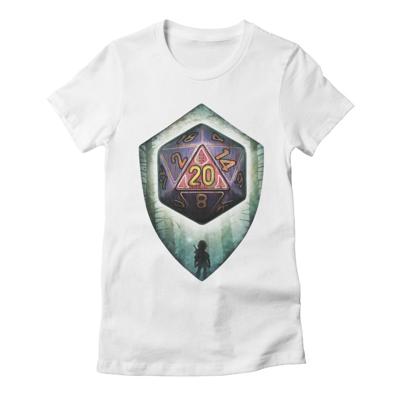 Majora's D20 Women's Fitted T-Shirt by maratusfunk's Shop
