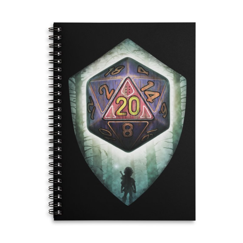 Majora's D20 Accessories Lined Spiral Notebook by maratusfunk's Shop