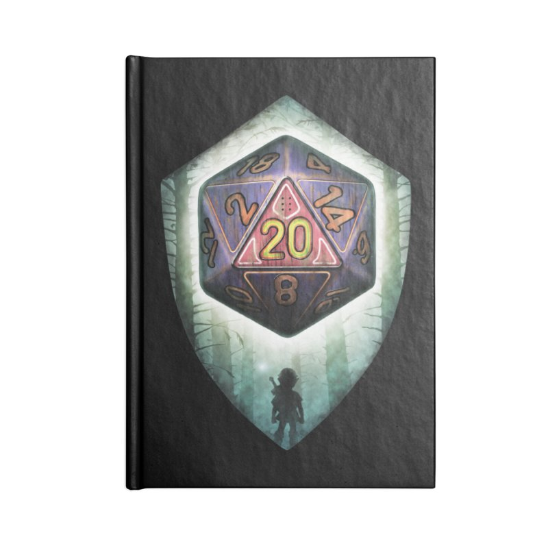 Majora's D20 Accessories Lined Journal Notebook by maratusfunk's Shop