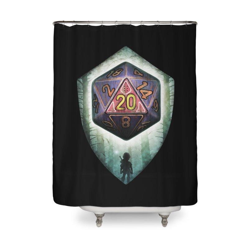 Majora's D20 Home Shower Curtain by maratusfunk's Shop