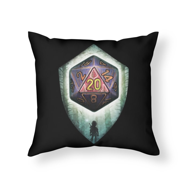 Majora's D20 Home Throw Pillow by maratusfunk's Shop