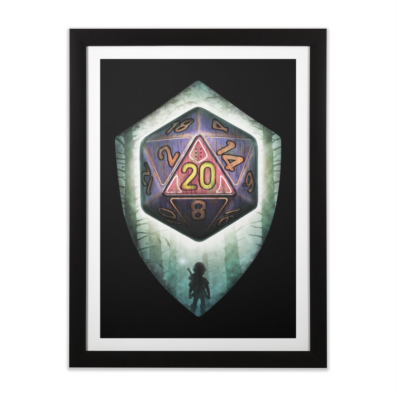 Majora's D20 Home Framed Fine Art Print by maratusfunk's Shop