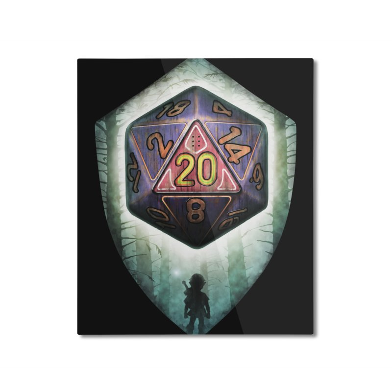 Majora's D20 Home Mounted Aluminum Print by maratusfunk's Shop