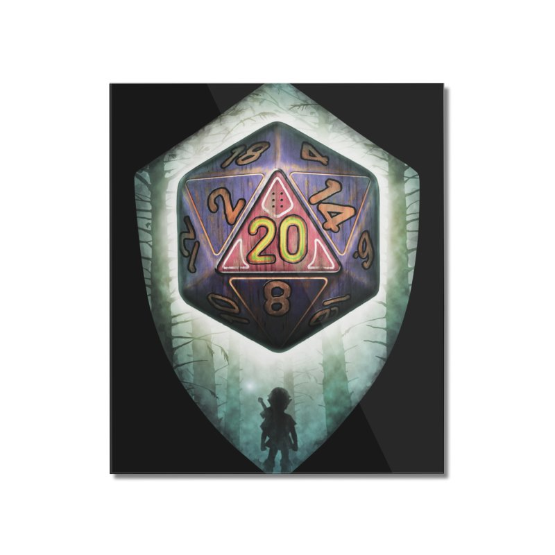 Majora's D20 Home Mounted Acrylic Print by maratusfunk's Shop