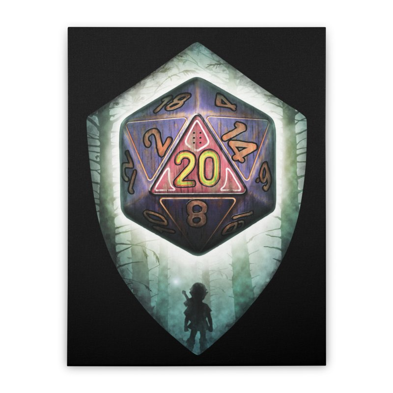 Majora's D20 Home Stretched Canvas by maratusfunk's Shop