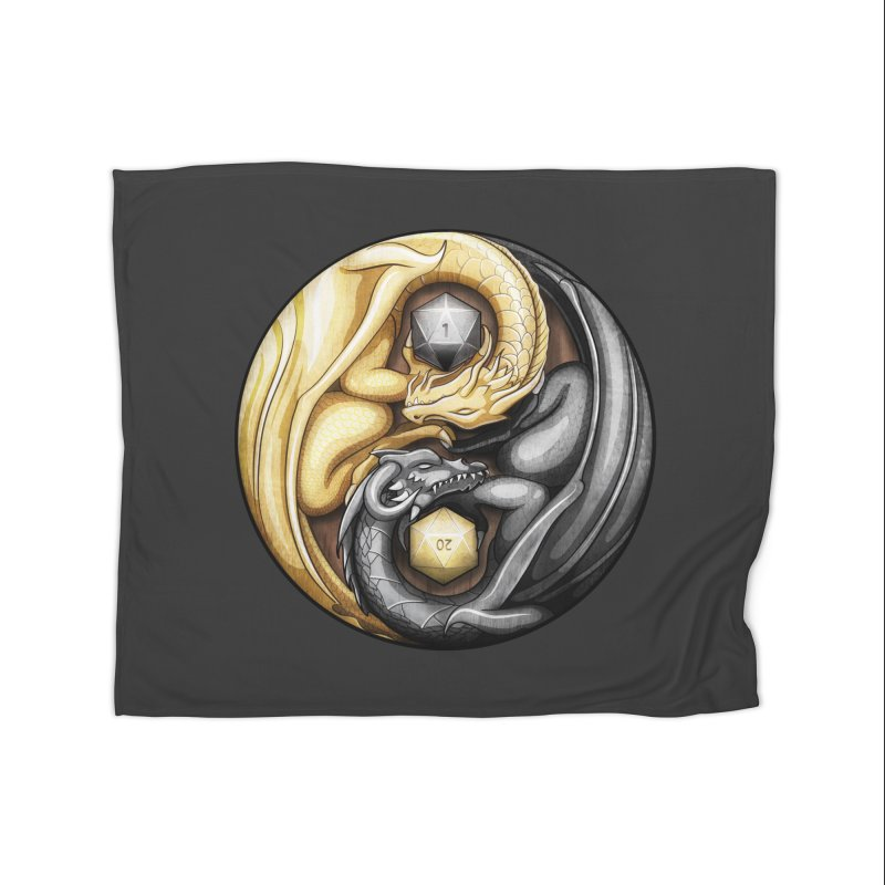 Balanced Dragons D20 Home Fleece Blanket Blanket by maratusfunk's Shop