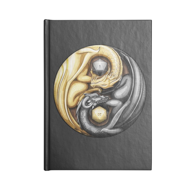 Balanced Dragons D20 Accessories Lined Journal Notebook by maratusfunk's Shop