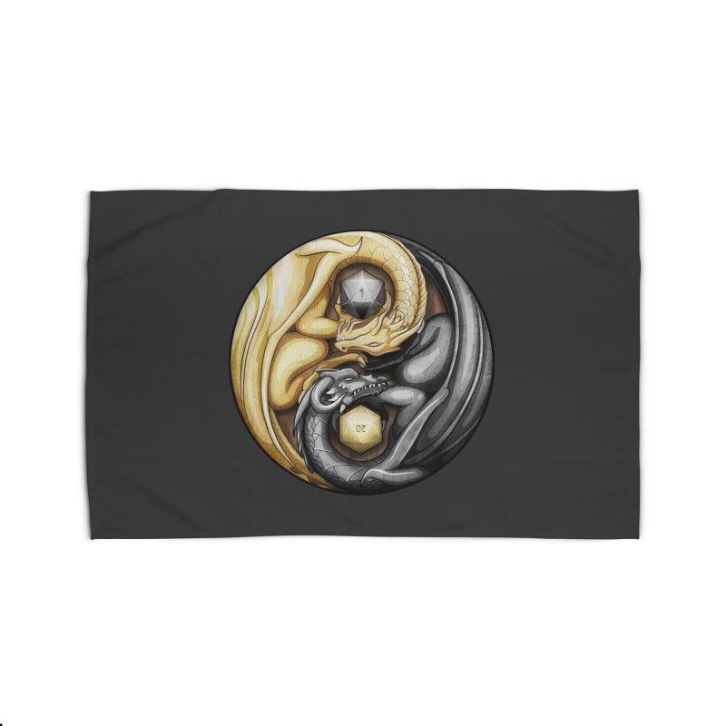 Balanced Dragons D20 Home Rug by maratusfunk's Shop