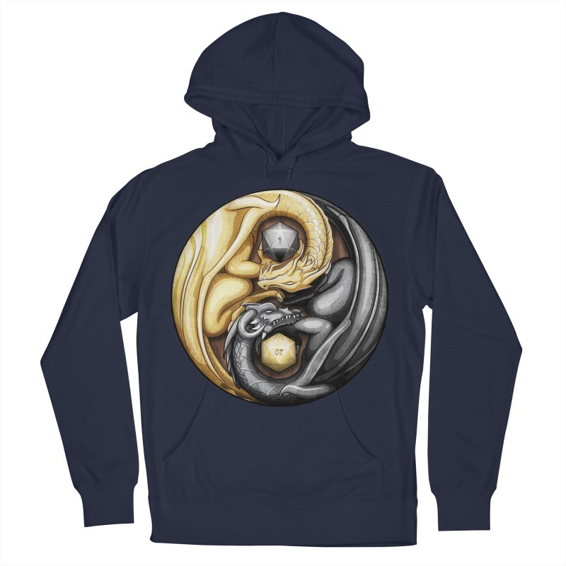 Balanced Dragons D20 Women's French Terry Pullover Hoody by maratusfunk's Shop