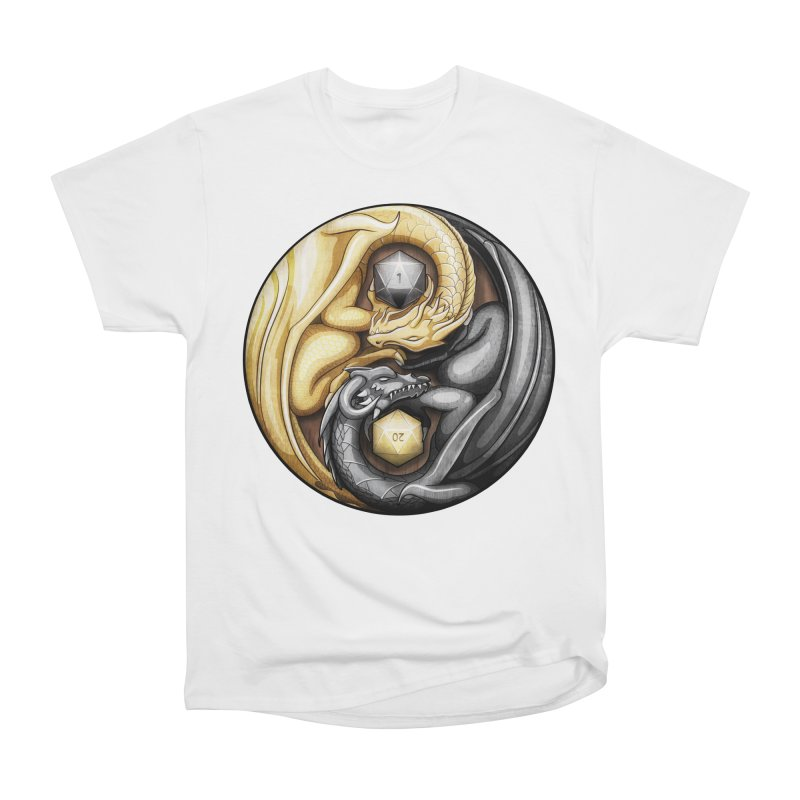Balanced Dragons D20 Men's Heavyweight T-Shirt by maratusfunk's Shop