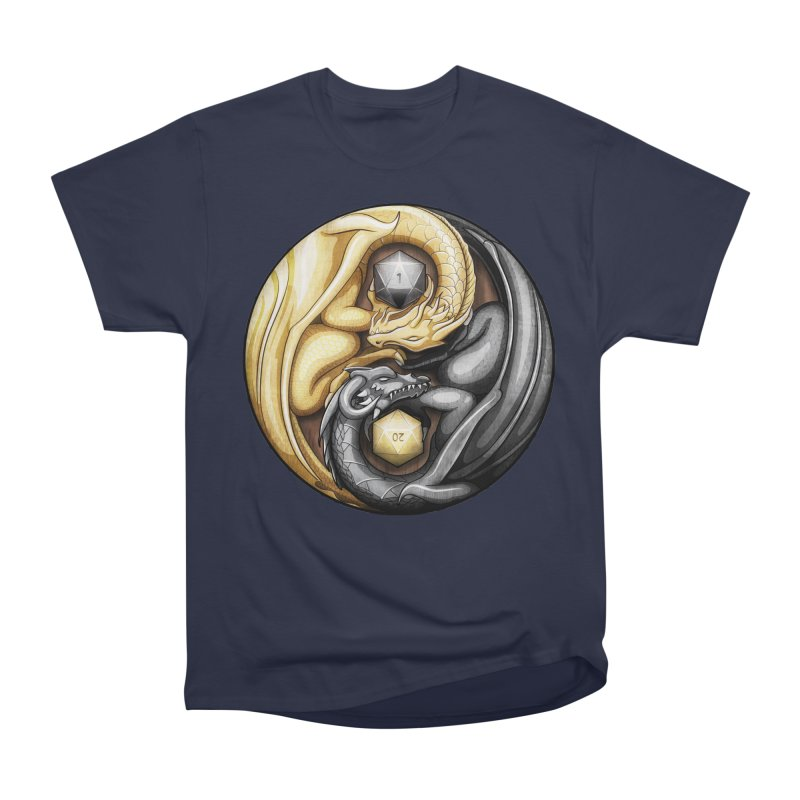 Balanced Dragons D20 Men's Heavyweight T-Shirt by maratusfunk's Shop