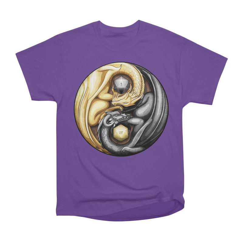 Balanced Dragons D20 Women's Heavyweight Unisex T-Shirt by maratusfunk's Shop