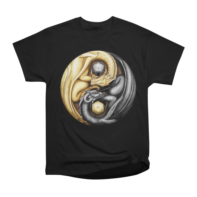 Balanced Dragons D20 Women's Heavyweight Unisex T-Shirt by maratusfunk's Shop