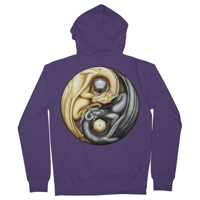 Balanced Dragons D20 Women's French Terry Zip-Up Hoody by maratusfunk's Shop