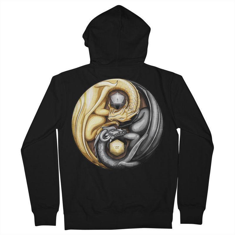 Balanced Dragons D20 Men's French Terry Zip-Up Hoody by maratusfunk's Shop