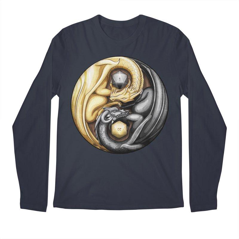 Balanced Dragons D20 Men's Regular Longsleeve T-Shirt by maratusfunk's Shop