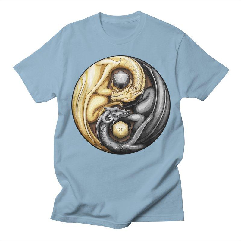 Balanced Dragons D20 Men's Regular T-Shirt by maratusfunk's Shop