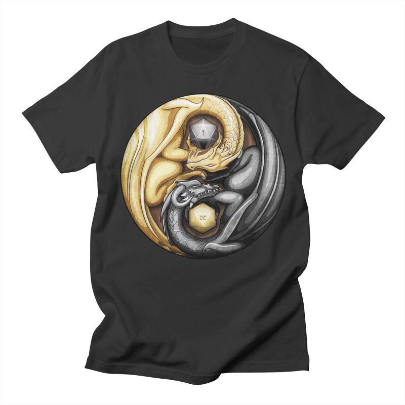 Balanced Dragons D20 Men's T-Shirt by maratusfunk's Shop
