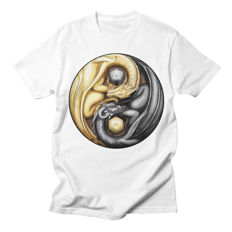 Balanced Dragons D20 Men's Regular T-Shirt by maratusfunk's Shop