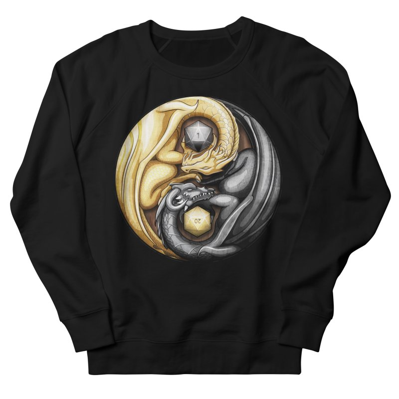 Balanced Dragons D20 Men's French Terry Sweatshirt by maratusfunk's Shop