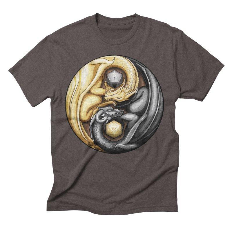 Balanced Dragons D20 Men's Triblend T-Shirt by maratusfunk's Shop