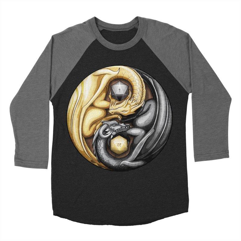Balanced Dragons D20 Women's Baseball Triblend Longsleeve T-Shirt by maratusfunk's Shop