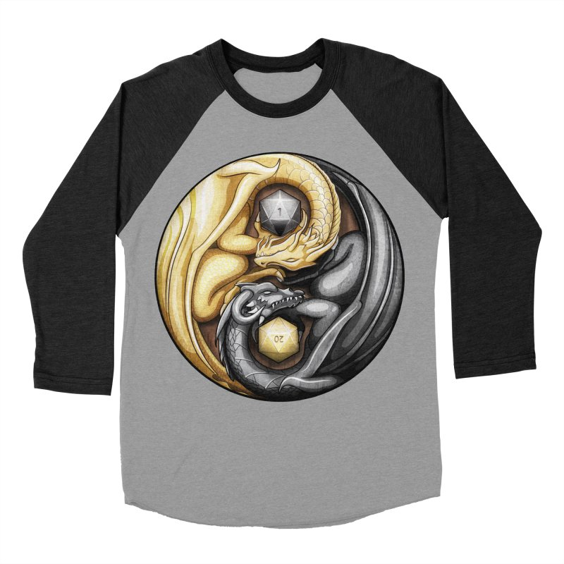 Balanced Dragons D20 Men's Baseball Triblend Longsleeve T-Shirt by maratusfunk's Shop