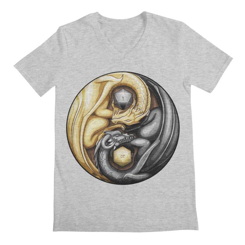 Balanced Dragons D20 Men's V-Neck by maratusfunk's Shop