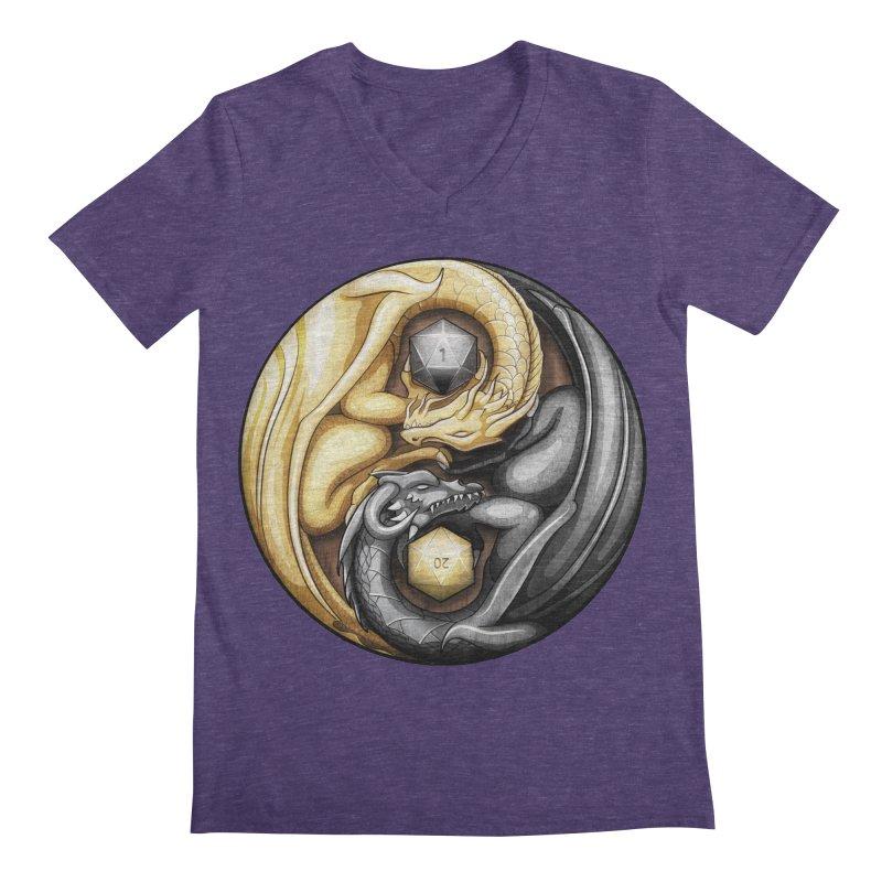 Balanced Dragons D20 Men's Regular V-Neck by maratusfunk's Shop