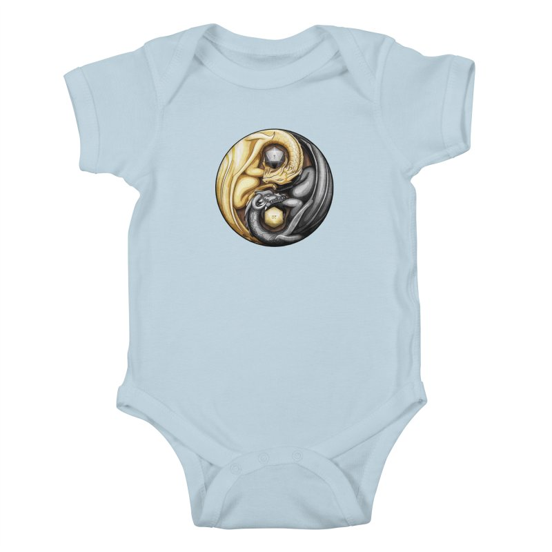 Balanced Dragons D20 Kids Baby Bodysuit by maratusfunk's Shop